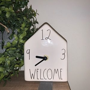 Rae Dunn Welcome Birdhouse Clock